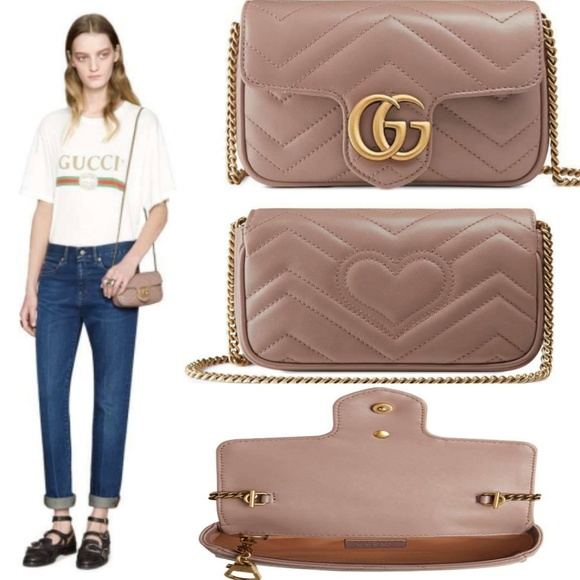 1886bf841bac Gucci Handbags - Gucci GG Marmont Matelassé Leather Super Mini Bag,